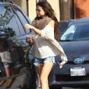 Selena Gomez out for lunch and at a nail salon with friends in Encino, California on February 22, 2014