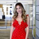 Ryan Newman in Red Mini Dress – Out in Los Angeles - 454 x 641