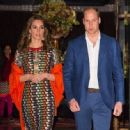 The Duke and Duchess of Cambridge leave their hotel in Thimphu