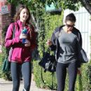 Teri Hatcher – Leaves the gym with her daughter in Studio City