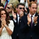 Prince William Windsor & Kate Middleton - Wimbledon: Day 9 (July 2, 2014)
