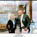 Radha Mitchell as Agent Peters and Boris Kodjoe as Anthony Stone in Touchstone Pictures' Surrogates. © Touchstone Pictures, Inc. All Rights Reserved.