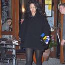 Rihanna At Da Silvano Restaurant In Nyc