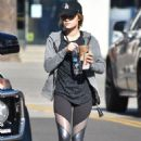 Lucy Hale – Grabbing an Iced Coffee from Starbucks in Studio City 12/1/ 2016 - 454 x 666