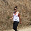 Lea Michele in Tights hike in Los Angeles - 454 x 681