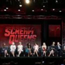 Actress Lea Michele speaks onstage during the 'Scream Queens' panel discussion at the FOX portion of the 2015 Summer TCA Tour at The Beverly Hilton Hotel on August 6, 2015 in Beverly Hills, California
