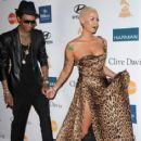 Amber Rose and Wiz Khalifa  arrive at Clive Davis and the Recording Academy's 2012 Pre-GRAMMY Gala and Salute to Industry Icons Honoring Richard Branson held at The Beverly Hilton Hotel in Beverly Hills, California - February 11, 2012 - 415 x 594