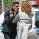 Jennifer Lopez on the set of 'Shades of Blue' in NYC - 454 x 600