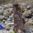 Coral Simanovich in Bikini on the beach in Mykonos
