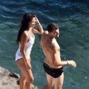 Nicole Scherzinger – Hot in Swimsuit in Capri – Italy