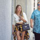 Ashley Benson with a friend in Los Angeles