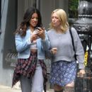 Brittany Snow DeWanda Wise and Gina Rodriguez – On the Set of 'Someone Great' in NY - 454 x 701