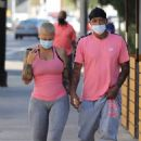 Amber Rose – Out for sushi following a workout session in West Hollywood