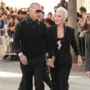 """Singer/Actress Alecia Moore aka Pink and Carey Hart attend the """"Happy Feet Two"""" Los Angeles Premiere at Grauman's Chinese Theatre on November 13, 2011 in Hollywood, California"""