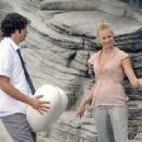 Zachary Levi and Yvonne Strahovski in Sydney