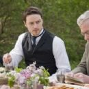 Left to Right: James McAvoy and John Sessions. Photo taken by Stephan Rabold, Courtesy of Sony Pictures Classics