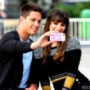 Dean Geyer and Lea Michele in Glee (2013)