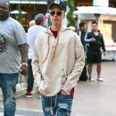 Justin Bieber spotted going for a walk through the Grove January 20,2016
