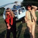 Jimmy and Charlotte backstage at the Knebworth Festival in August 4th. 1979