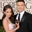 Megan Fox and Brian Austin Green arrives at the 68th Annual Golden Globe Awards held at The Beverly Hilton hotel January 16, 2011  Beverly Hills,