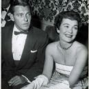 Freddy Karger And Wife Jane Wyman Relax With Friends During The Cocktail Party At The Regency Room Of The Ambassador Hotel.
