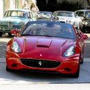 Christina Aguilera And Husband Riding On Their Brand New Ferrari In Beverly Hills, 2010-09-03