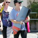 Kaley Cuoco Leaving Yoga Classes In West Hollywood