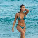 Joy Corrigan in Bikini on the beach in Miami - 454 x 682
