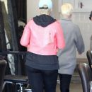 Amber Rose at a Nail Salon in West Hollywood, California - January 14, 2013