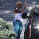 Amber Rose Drops Sebastian off with Wiz Khalifa in Beverly Hills, California - February 24, 2016 - 454 x 580