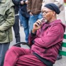 "Samuel L. Jackson spotted on the set of ""Life Itself"" filming in New York City, New York on March 27th, 2017"
