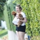 Lena Dunham With Her Dogs in Beverly Hills - 454 x 680
