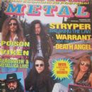 Michael Sweet, Tim Gaines, Oz Fox, Robert Sweet - Metal Magazine Cover [Argentina] (November 1990)