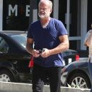 Kelsey Grammer and his wife stop by the Andy LeCompte Salon in West Hollywood, California on September 29, 2015 - 390 x 600