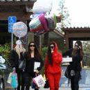 Kourtney Kardashian celebrating a friend's birthday at Lovis Restaurant in Calabasas, California on January 9, 2017 - 454 x 553