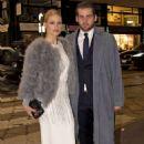 Michelle Hunziker in Long Dress – Out in Milan - 454 x 681