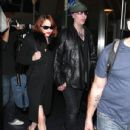 Goth Singer Marilyn Manson And His Girlfriend Lindsay Usich Arriving On A Flight At Lax Airport In Los Angeles - 436 x 594