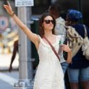 Emmy Rossum - Hailing A Cab In New York City, August 13, 2010