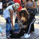 Zendaya Coleman is seen shopping with her mom and dog at the Grove in Los Angeles, California on August 12, 2016 - 454 x 487