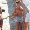 Pauline Ducruet in Bikini Top and Shorts at vacation on Mykonos
