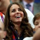 Kate Middleton at the Gymnastics competition during the London 2012 Olympic Games at North Greenwich Arena (August 5)