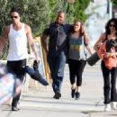 Colin Farrell Leaving Yoga With His Sister - 454 x 334