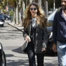 Blake Lively – Arriving at her hotel in Paris