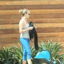 Teresa Palmer in Leggings Out in Los Angeles - 454 x 600