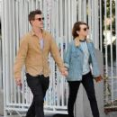 Xavier at the Sunset Plaza in Hollywood with girlfriend Emily Browning on 03/02/13 - 454 x 559