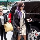 Demi Lovato Leaving Z100 Studios In Nyc