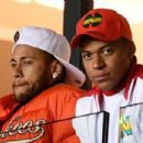 Neymar and Mbappe in the stands during a recent Ligue 1 match - 454 x 303