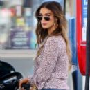 Delta Goodrem at a gas station in Los Angeles