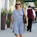 Amy Smart Leaving E Baldi Restaurant In Beverly Hills