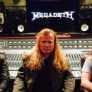 Dave Mustaine with Kiko Loureiro & Chris Adler
